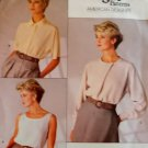 Vogue 1860 Calvin Klein Design Misses' Top & Blouse Pattern, Size 12, Bust 34, Uncut