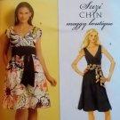 Butterick B 5319 Suzi Chin Design Misses' Dress & Sash Pattern, Plus Sz 16 18 20 22, Uncut