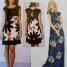 Easy Butterick B 5456 Suzi Chin Design Misses' Dress & Sash Pattern, Plus Sz 16 18 20 22 24, Uncut