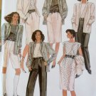 Vintage McCalls 8374 Misses'  Jacket, Top, Skirt, Pants or Shorts Pattern,  Size 12, UNCUT