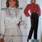 Vintage McCalls 9032  Linda Evans Design Misses Blouse, Tie and Pants Pattern,  Size 12, UNCUT