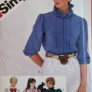 Simplicity 5813 Misses Tucked Blouse with neckline & sleeve variations Pattern,  Size 14, UNCUT