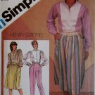 Simplicity 5832 Henry Grethel Design Misses' Pants, Tucked Skirt, Shirt  Pattern,  Size 12, UNCUT