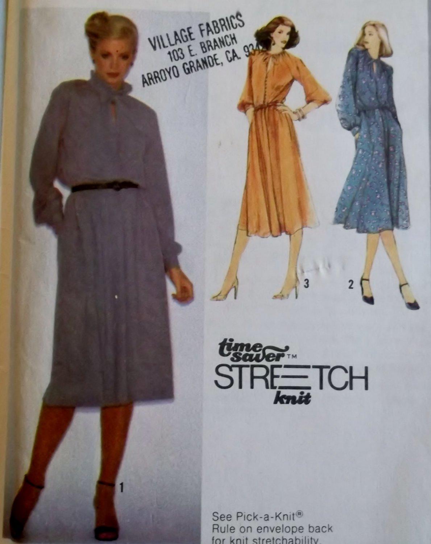 Misses  Pullover Dress Simplicity 9174 Pattern, Sz 8 10 12, Uncut