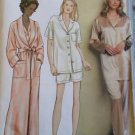 Very Easy Misses' Robe Top Pants, Shorts,  Vogue 7645 Pattern,  Plus Sizes 14 16 18, Uncut