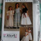 McCalls Alicyn Exclusives 9141 Pattern, Childs Dress in two Lengths, Sizes 7, 8, 10,, UNCUT