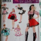 Misses Costumes Maid Pirate Nurse & More Simplicity 3618 Pattern, Plus Sz 14 To 20, Uncut