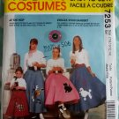 OOP Easy McCalls 7253 Costume Girls' Poodle Skirt sewing pattern Sz 7/8 to 14, UNCUT