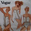 Vogue 2146 Pattern, Misses' Slip, Camisole, Half-Slip, Panties and Teddy,  Sz XS S M, Uncut