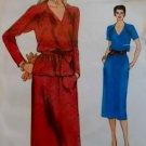 Vintage Vogue 7537 Misses Dress or Top & Skirt Pattern, Size 12 UNCUT