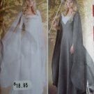 Misses Fantasy Queen Medieval Princess Gown & Cape Simplicity 1551 Pattern, Plus Sz 16 to 24, Uncut