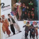 Vintage Simplicity 7428 Child's Clown Costumes Pattern, Sz Sm Md Lg, Uncut
