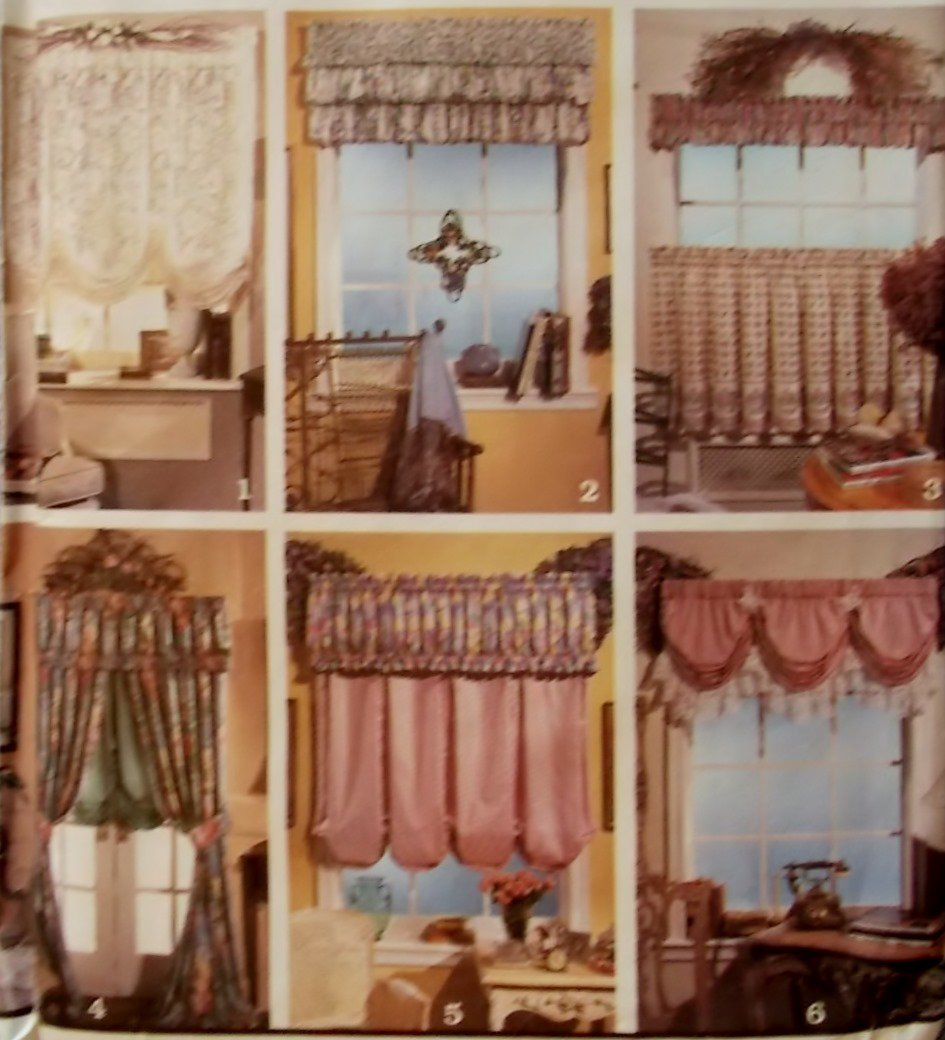 Easy simplicity 8401 jiffy 6 pack window treatments home for Professional window treatment patterns