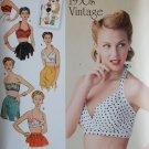 Simplicity 1426 Misses' Vintage 1950's Bra Tops Pattern, Sz 4-12 UNCUT