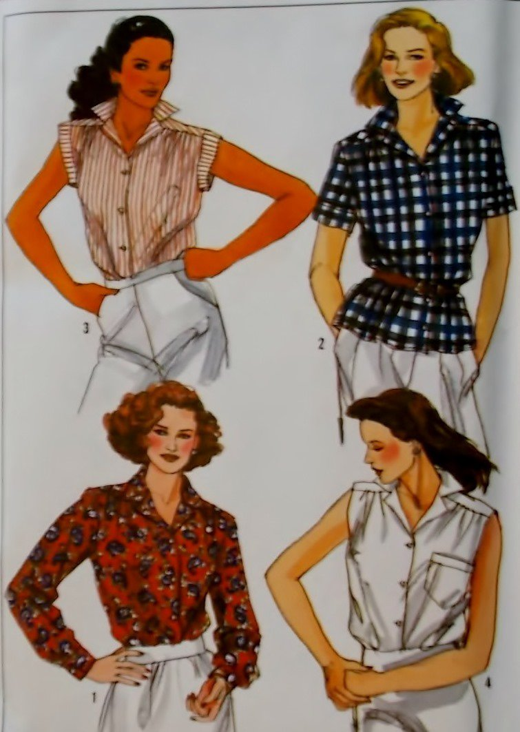 Misses Shirts Simplicity 9398 Pattern, Plus Size 18 20 UNCUT