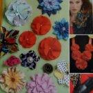 McCalls M 6047 Fabric Flowers Craft Sewing Pattern, UNCUT
