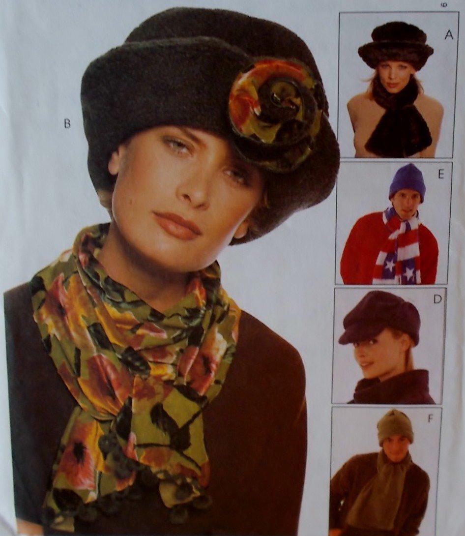 McCalls 9063 Hats & Scarves Plus Pattern, UNCUT