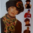 McCalls 9063 Hats & Scarves Plus Pattern, UNCUT