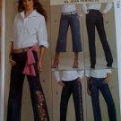 McCalls M 5142 Pattern, Palmer/Pletsch Misses' Jeans, Sz 10 12 14 16, UNCUT