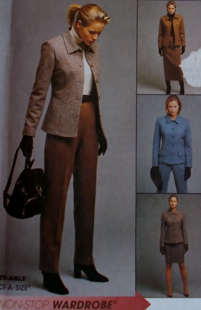 McCalls 9519 Pattern, Misses Jacket Pants Skirt Plus Size 18, 20, 22, Uncut