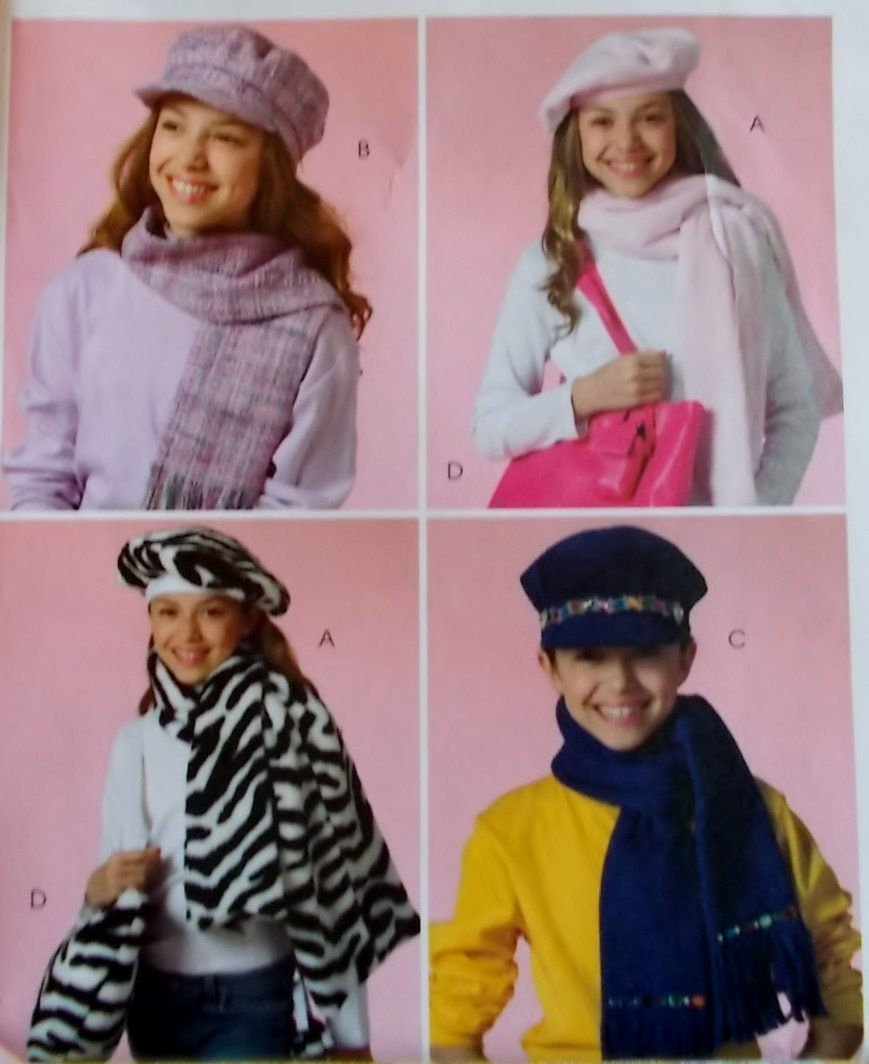 McCalls M 4938 Childs Hats, Scarves, Tote Bag & Cell Phone Case Pattern, one size, UNCUT
