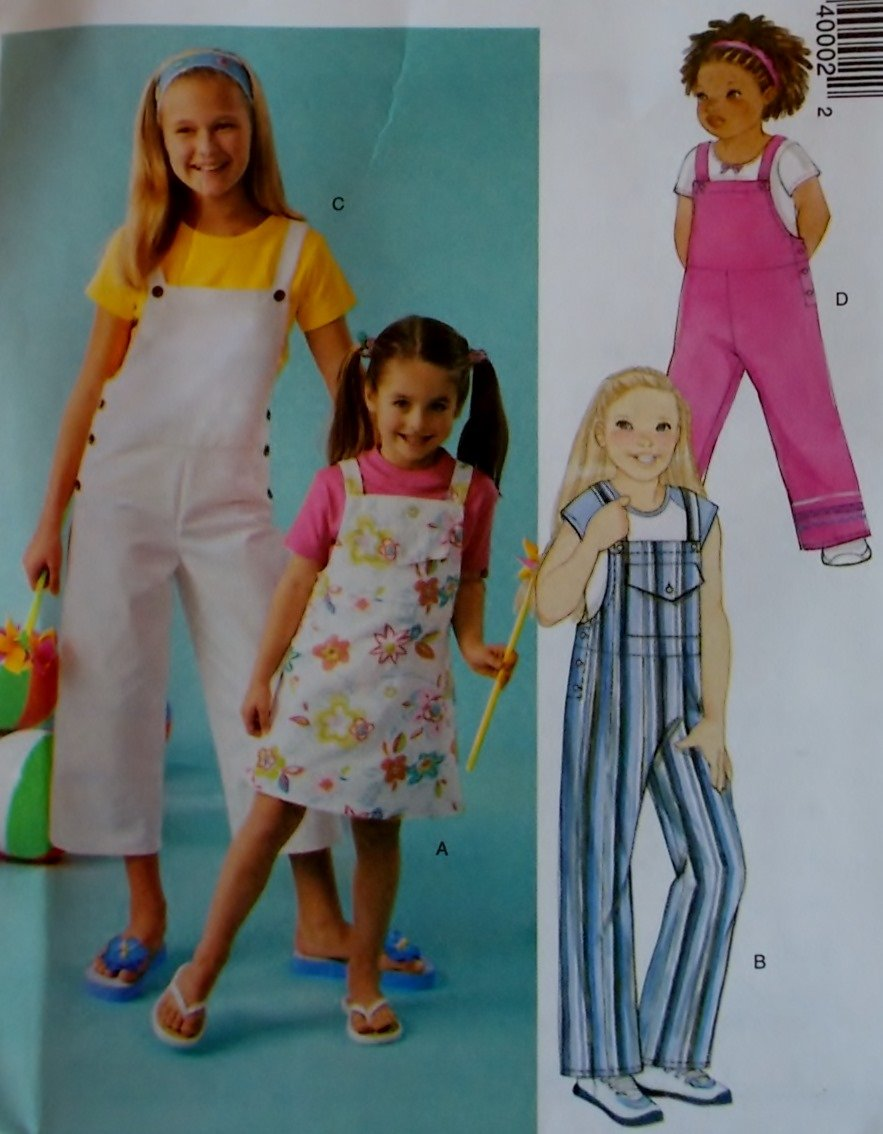 McCalls 4000 Pattern, Childs and Girls Blouse & Jumper or Overdress, Sizes 6, 7, 8, 10, 12 UNCUT