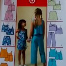 McCalls M 4816 Girls' Tops, Skorts, Shorts & Capri Pants Pattern, Sz 10, 12, 14, Uncut