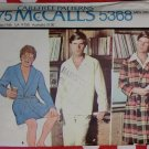 Vintage McCalls  5368 Men's Robe & Pajamas Pattern, Size Large, UNCUT