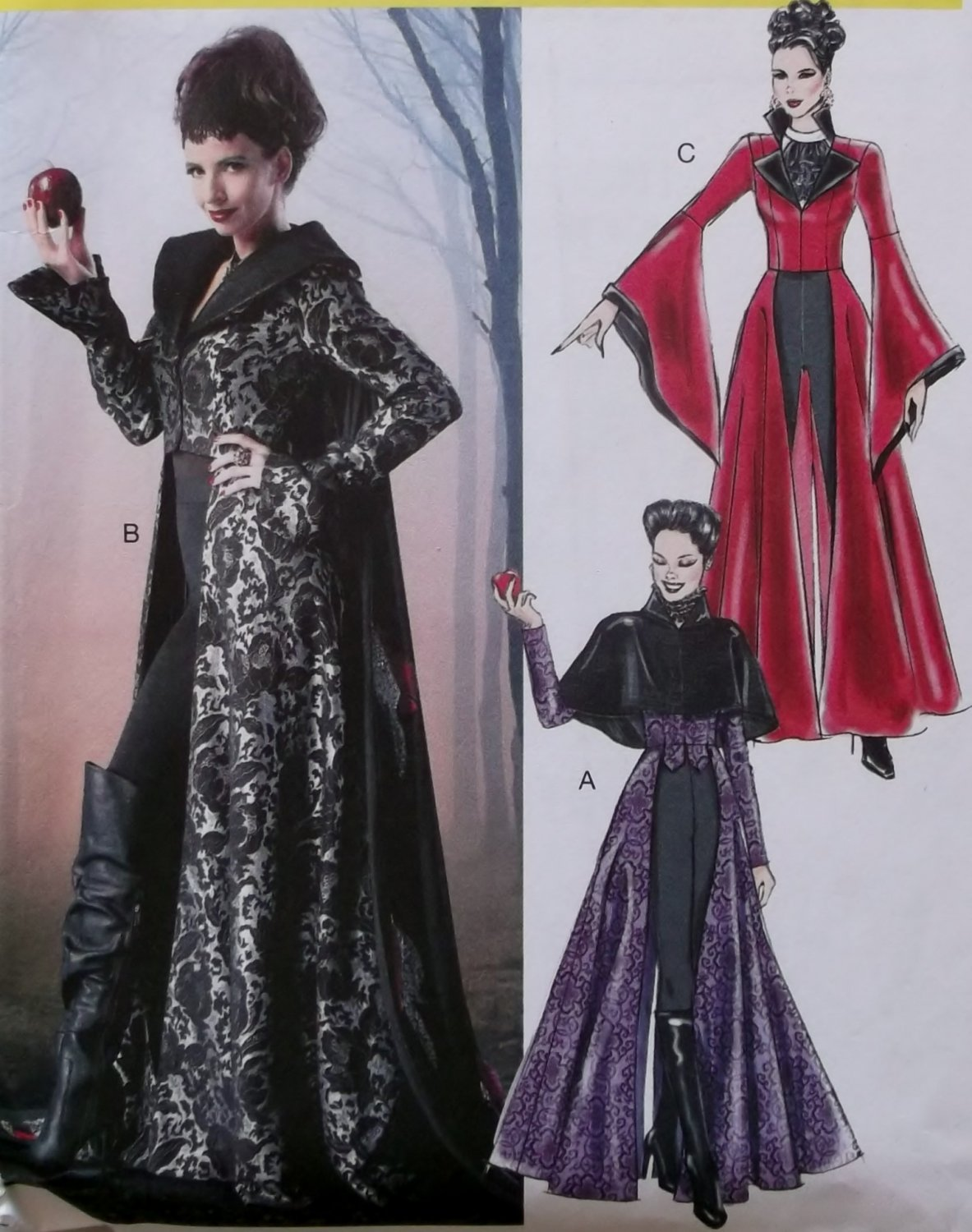 Misses Evil Queen Costume McCalls M6818 Pattern, Size 4 to ...