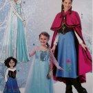 McCalls M 7000 or MP381 Girls' Winter Princess Costumes, Sz 3 to 14, Uncut