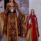 Misses Costume Medieval Renaissance Dresses McCalls M 6940 Pattern, Size 14 To 22, Uncut
