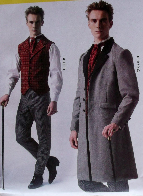 Men's Steampunk Costume, McCalls M7003 Pattern, Plus Size S to XXL, Uncut