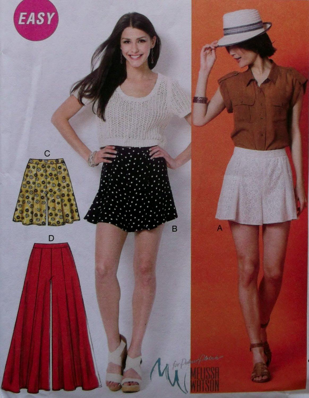 McCalls M6965 Sewing Pattern, Misses' Shorts & Pants, Size 6 8 10 12 14, UNCUT