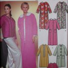 Misses' Bath Robes & Bed Jacket Simplicity 7018 Pattern, Size XXS to S,  UNCUT