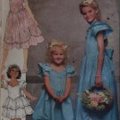 OOP Girls Dress Butterick 6028 Sewing Pattern , Size 12 14, UNCUT, FF