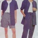 Easy Misses' unlined jacket, pants & shorts McCall's 2562 Patttern, Plus Size 14 16 18 20, UNCUT