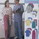 Unisex Uniform Cardigan or Vest, Shirt, T-Shirt & Pants McCalls 9652 Pattern, Plus Sz XL, XXL Uncut