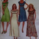 Laura Ashley Design Misses' Dress in 2 lengths Mccalls m 5039 Pattern, Size 4 6 8 10 UNCUT