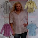 Women's Shirts In 2 Lengths & Belt McCalls M 5673 Pattern,  Plus Size 18 20 22 24,  UNCUT