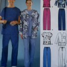 Unisex Scrubs Uniform Pants, Top & Jacket Simplicity 5441 Pattern, Size L  & XL, UNCUT