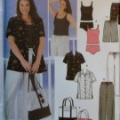 Women's Summer Wardrobe & Bag Simplicity 5571 Pattern,  Plus Size 18W to 24W,  UNCUT