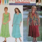 Woman's Dress & Jacket Simplicity 8002 Pattern,  Plus Size 18W to 24W,  UNCUT