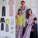 Easy Unisex Child's, Teen's, & Adults' Pajamas Slippers + Simplicity 3935 Sewing Pattern , Uncut