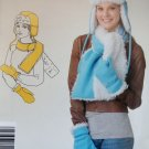 Easy Misses' Hat, Scarf and Mittens Simplicity 1749 Sewing Pattern, Uncut