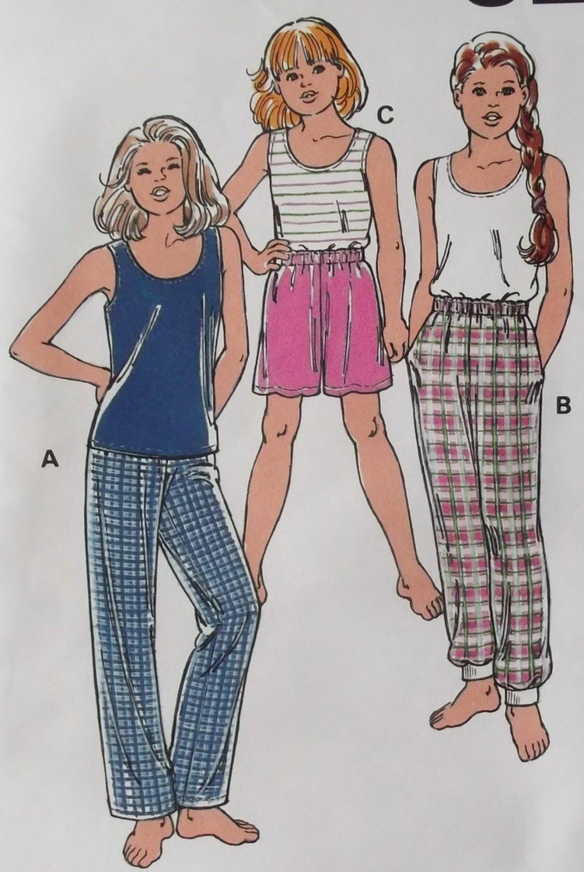 Kwik Sew 2667 Girls Sleep Pants, Shorts & Camisole Kwik Sew 2667 Pattern, Sizes 7 to 14, UNCUT