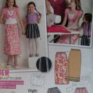 Girls Dress and Purse Simplicity 9497 Pattern, Size 7 to 14, Uncut