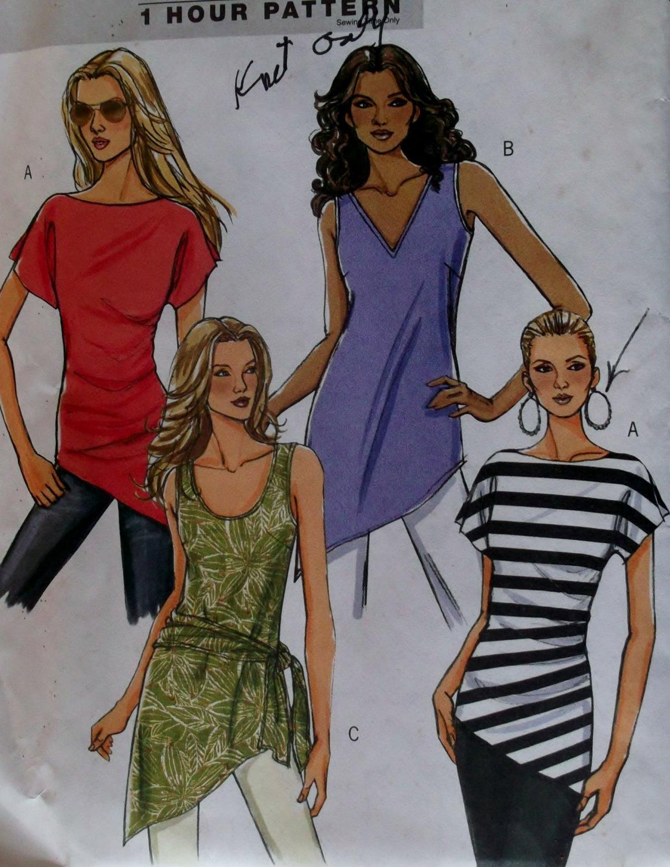 Easy Butterick B 5035 Misses' Tunic & Sash Pattern,  Size 4/6 8/10 12/14, Uncut