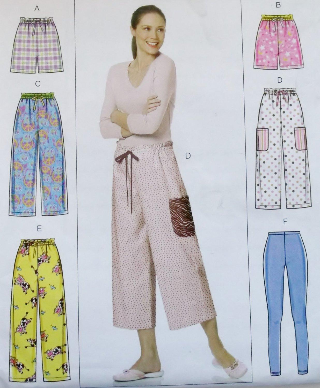 Very Easy Butterick B 5502 Misses' Shorts, Pants, Leggings Pattern,  Size 4/6 8/10 12/14, Uncut