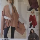 Easy Misses' Fleece Ponchos & Wraps Simplicity 1098 Pattern, One Size, UNCUT
