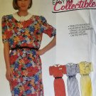McCalls 2409 Pattern Misses' Dress And Belt, Sizes 6, UNCUT